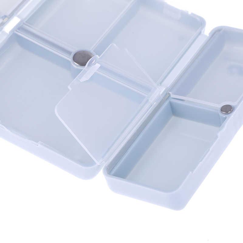 7 日折りたたみピルボックスミニ容器医薬品タブレット収納トラベルケースホルダーかわいいピルボックス医学オーガナイザー