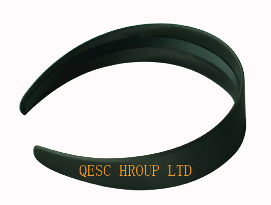 Wholesale NEW Black 3 8cm satin headband hair band hair accessories for fascinator 20pcs lot FREE