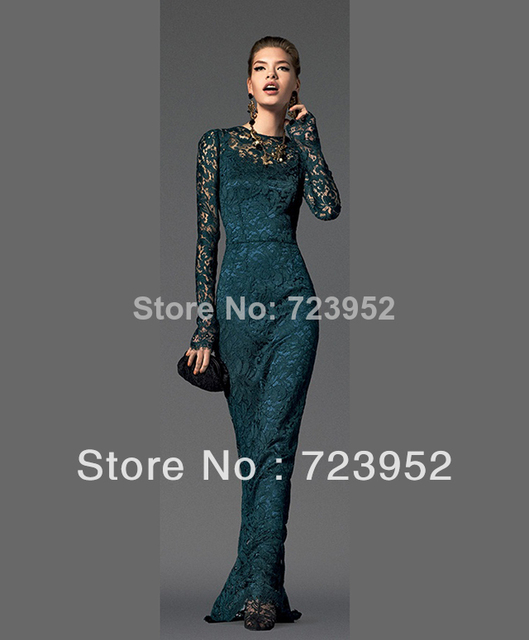 Noble Unique High Neck Long Sleeves Wedding Event Dresses Sheath