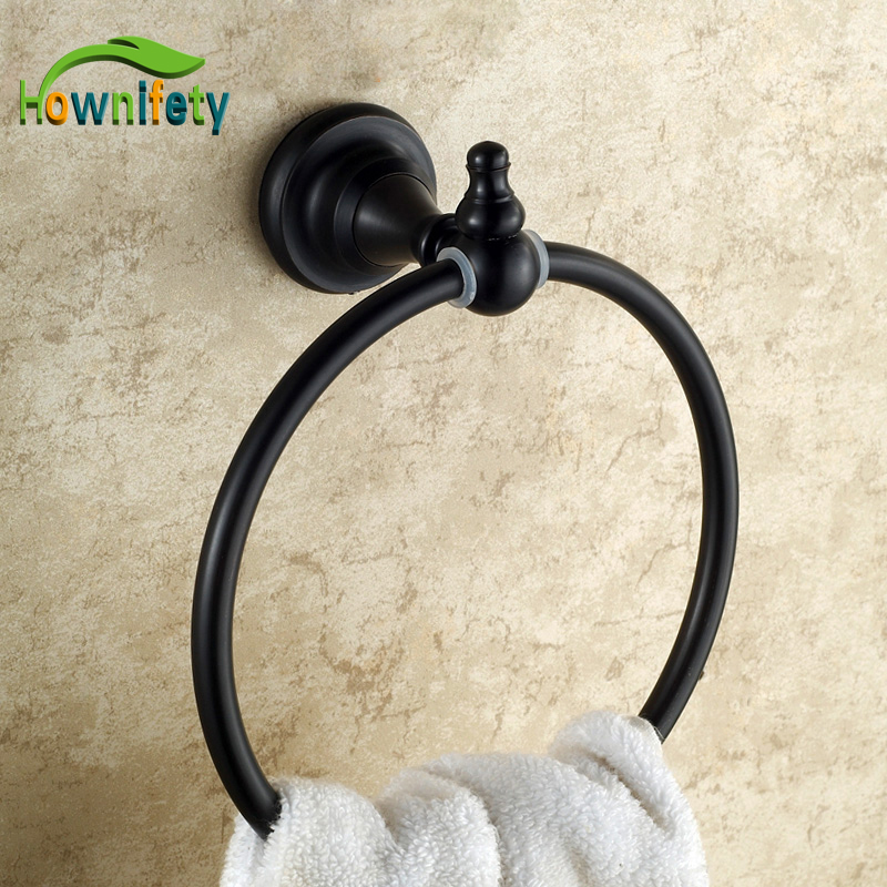 Traditional Oil Rubbed Bronze Bathroom Towel Ring Wall Mount Towel Hanger/Rack oil rubbed bronze wall mount towel rack holder round towel bar hanger solid brass