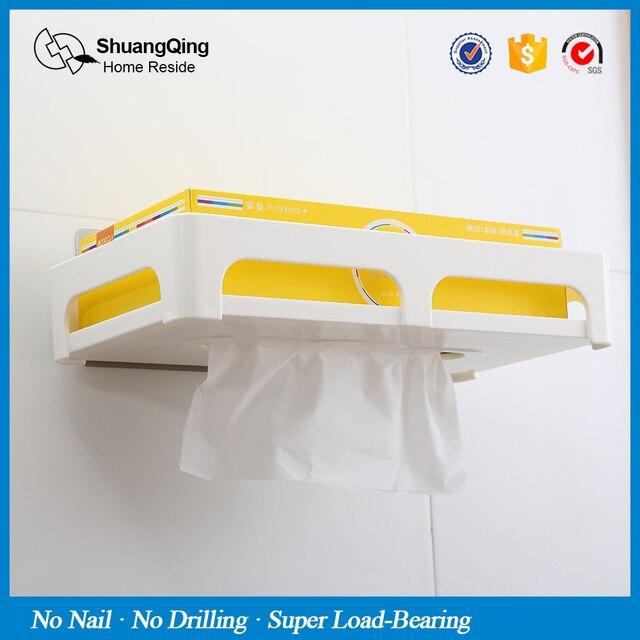 Shuangqing New Arrival Paper Holder Plastic Tissue Box Shelf Tissue Box 5051