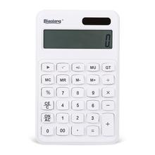 2016 White Desktop Electronic Calculator Multi Function Solar Calculator 12 Digits Display Dual Power Calculadora ADG98138