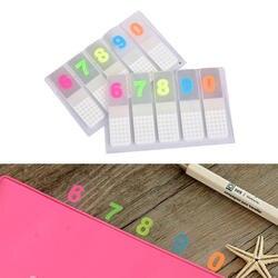 DIY 0-9 номер Kawaii Цветной Блокнот прекрасный липкий Бумага Примечание школьные канцелярские принадлежности корейский канцелярские 1 шт