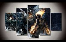 Unframed Fantasy Battle art 5 piece picture painting art decor poster wall pictures for living room decoration