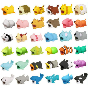 24 Style Can Choose Single Sale Funny Creative Cable Bite Protector For IPhone Winder Accessory Cute Animals Model Toys Gifts protectores de cargador iphone