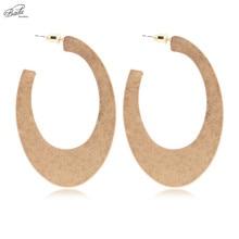 Badu Big Heavy Earring for Women Metal Punk Statement Stud Earrings Geometric Rock Style Fashion Jewelry Gift Party
