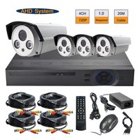 4CH 720P AHD Realtime DVR System Array IR Outdoor 1 0MP CCTV Security Camera