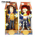Toy Story 3 Falando Woody Jessie PVC Action Figure Collectible Modelo Toy Boneca DSFG268