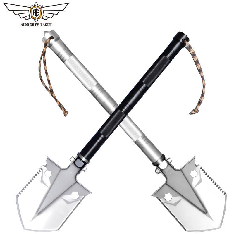 ALMIGHTY EAGLE Outdoor MINI multifunctional shovel survival Gardening tool folding shovel Camping Hunting Women self-defense