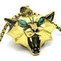 Школьная подвеска в виде медальона для косплея волшебника  медальона  зеленого цвета со стразами  золотого цвета  ожерелье для игр с котом ...