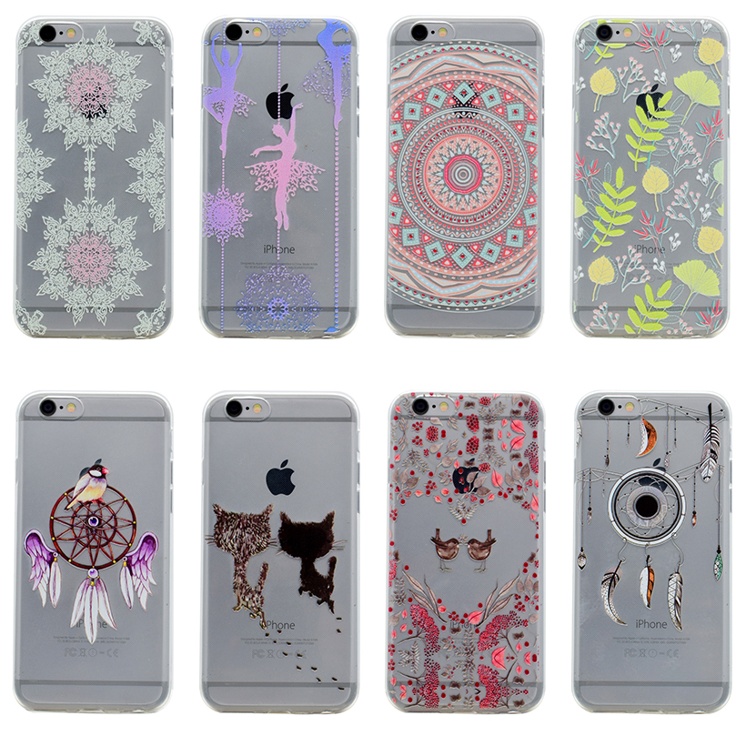 AKABEILA Mobile Phone Case For Apple iPhone 6 Plus 6S Plus iPhone6SPlus Phone Bag Cover Silicon Soft TPU Coque Shell Covers