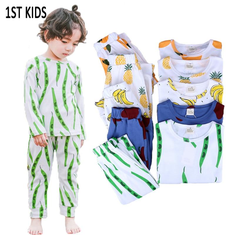 Toddler Kids Boys Pajamas Nightwear Sleepwear Cartoon Costume T-shirt+Pants