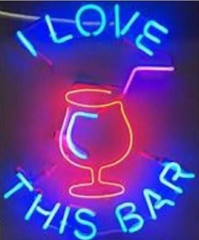 Custom I Love This Bar Neon Light Sign Beer Bar