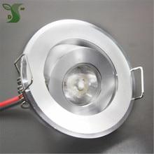 10 Stuks 110V 220V Led Mini Plafond Led Spot Lamp Dimbare 1W 3W Embedden Mini led Downlight Wit, zwart, Zilver Inclusief Drive