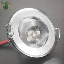 10 adet 110V 220V LED Mini tavan LED spot işık lambası kısılabilir 1W 3W gömme mini LED downlight beyaz, siyah, gümüş dahil olmak üzere sürücü