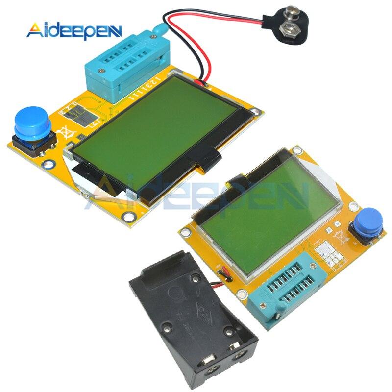 LCR-T4 LCD الرقمية الترانزستور تستر متر M328-Battery صمام ثنائي ثلاثي المسار السعة ESR متر ل MOSFET/JFET/PNP/NPN L/C/R1 + Case