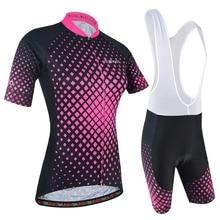 BXIO Женская велосипедная одежда с коротким рукавом спортивная одежда с нагрудником шорты розовый Велоспорт Джерси Наборы Лето Pro команда велосипед Джерси 177