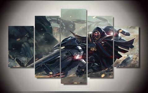 5 Piece Framed Printed star wars
