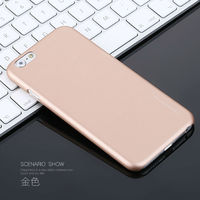 Hot PC Leather Spray Paint Hard Mobile Phone Case For Iphone 6 Plus 6s Plus Colors