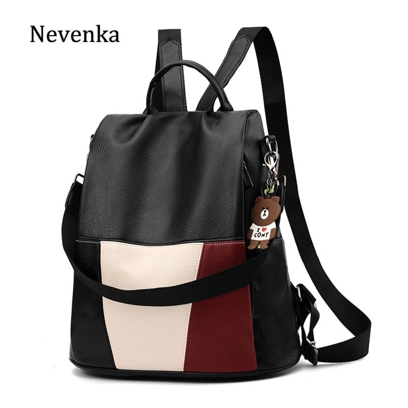 8e3bc606cacb Best Chance Nevenka Leather Backpack Women Travel Backpacks Female ...