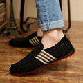 2017 Man Shoes Walking Ventilation Casual Male Men sapato masculino Red Bottom Canvas Slip Driving Moccasin Loafer Flat Shoes