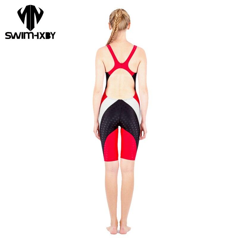 цены  HXBY BRAND Sharkskin Professional Swimsuit For Girls Swimwear Women One Piece Women's Swimsuits Swimming Suit For Women Swimsuit