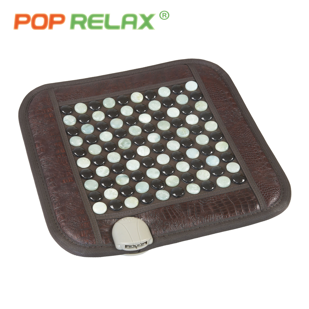 POP RELAX healthy mattress tourmaline jade germanium ion far infrared heating therapy stone massage mat thermal sitting mattress 2017 new natural jade germanium tourmaline stones infrared heating mat natural jade facial beauty massage tool jade roller