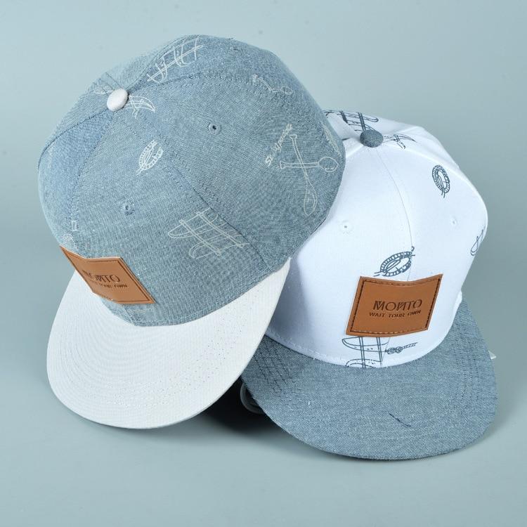 cotton denim hat affixed cloth letters casual fresh graffiti hip hop baseball cap snapback caps hats for woman men