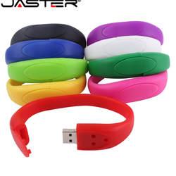 JASTER Горячая Продажа Креативный U диск 2,0 64 ГБ 32 ГБ 16 ГБ 8 ГБ 4 ГБ Мультфильм три пряжки ремешок реальная емкость USB флэш-накопитель