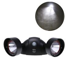 New Arrival LED Solar Power Double Heads Human Body Sensor Lamp Wall Mount Light Security Wall Lamp for Outdoor Garden