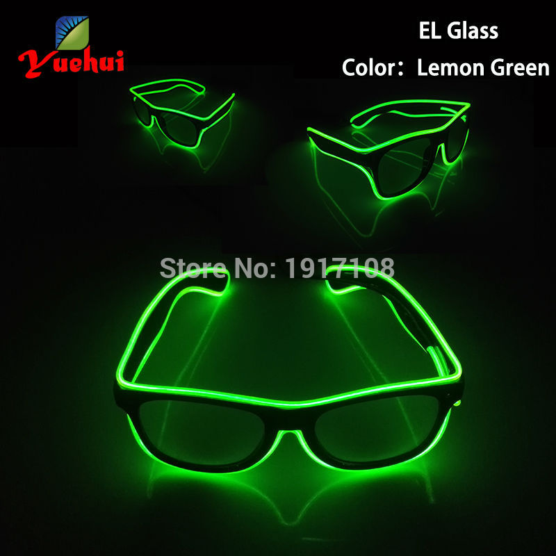 with DC-3V Steady On Inverter 10 Color Flashing El Led Glasses Luminous Party Lighting Colorful Glowing Classic For Cosplay