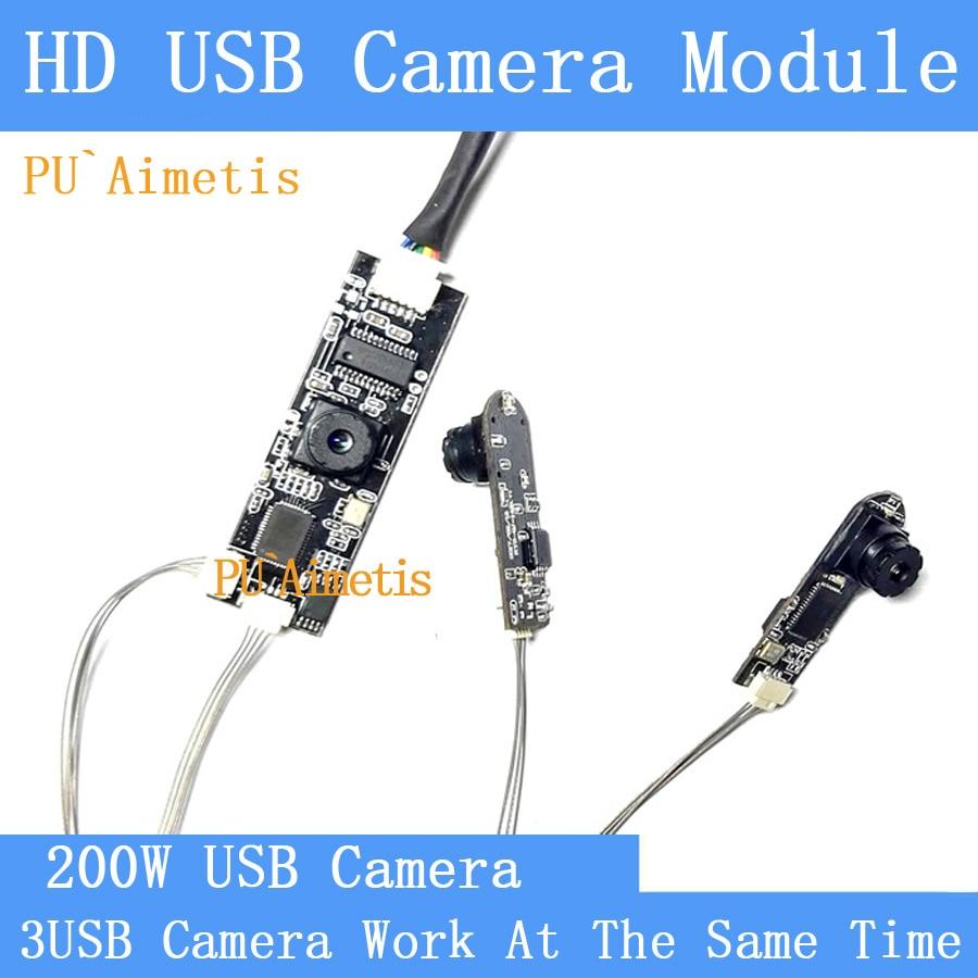 PU'Aimetis 30fps industrielle Mini HD affichage Divisé trois images simultanément USB module de caméra Vidéo Caméra de Surveillance