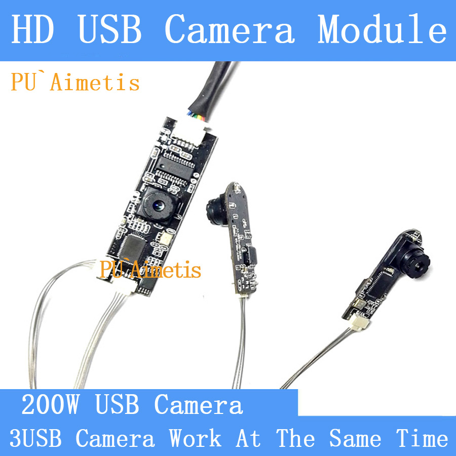 industrial Mini HD Split display three images simultaneously UVC USB camera module Video Surveillance Camera