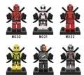 6 unids/lote Mini La Acción Deadpool Superhéroes Serie de Bloques de Construcción de Juguetes Nuevos Niños Regalo Compatible