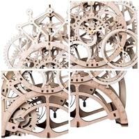 Robotime DIY Wooden Vintage Desk Pendulum Clock Decoration Mechanical Gears Crafts Home Table Accessories for Kids Room LK501