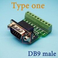 Port Szeregowy DB9 DB9 męski wtyk męski skręcić okablowania Terminal DR9 zmieni kolor na terminalu