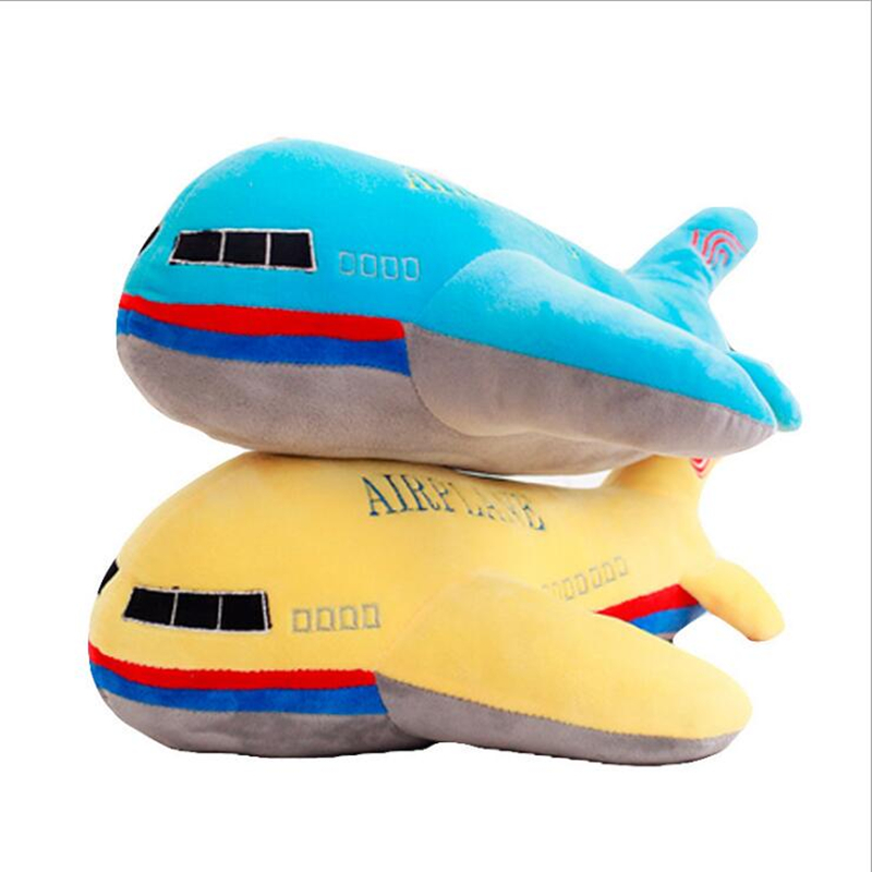 New 40cm 50cm 60cm Large Size Simulation Airplane Plush Toys Kids Sleeping Back Cushion Soft Aircraft Stuffed Pillow Dolls Gift