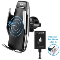10W Qi Car Wireless Charger For Iphone X XS MAX Automatic Car Phone Holder Fast Wireless Charging Air Vent Stand For Samsung S8