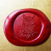 Vintage Owl Wax Seal Stamp Gold Plated Owl Invitation Logo