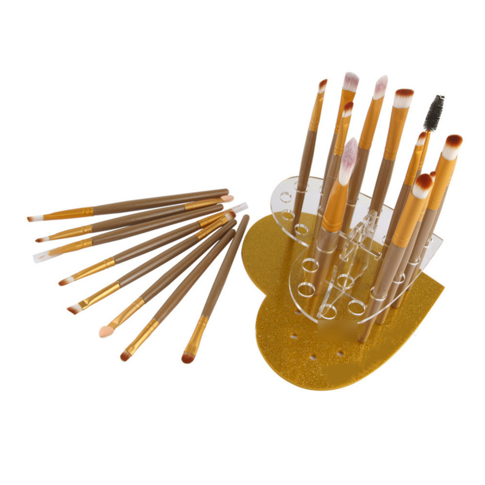20 Grids Heart-shaped Makeup Brush Display Stand Holder Drying Rack Cosmetic Brushes Showing Rack Drying Display Stand Storage heart shape brush stand brush holder