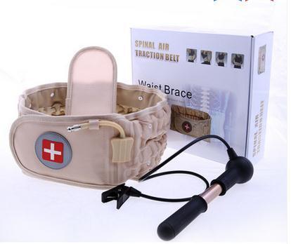 Regalo de navidad Espinal Aire Tracción Physio Descompresión Volver Cinturón Back Soporte Lumbar Masaje De Espalda del Dolor de Espalda Baja