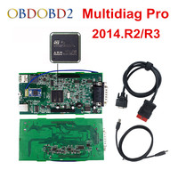 Newest Green PCB Multidiag Pro Bluetooth 2014 R2 R3 Free Keygen With 4G TF Card For