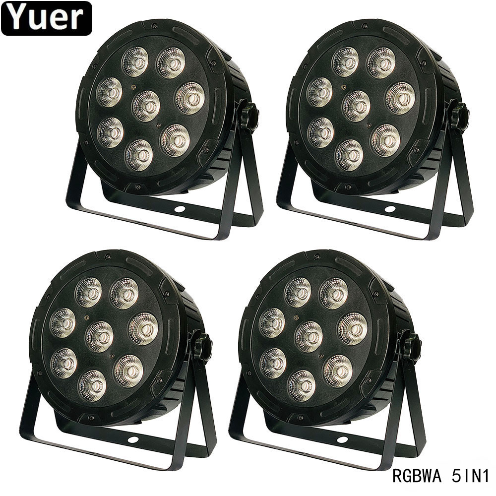 4Pcs/Lot 8x10W RGBWA 5IN1 LED Par Light Color Music Bar LED Wash Effect DMX512 DJ Disco Light Sound Party Club Stage Par Lights