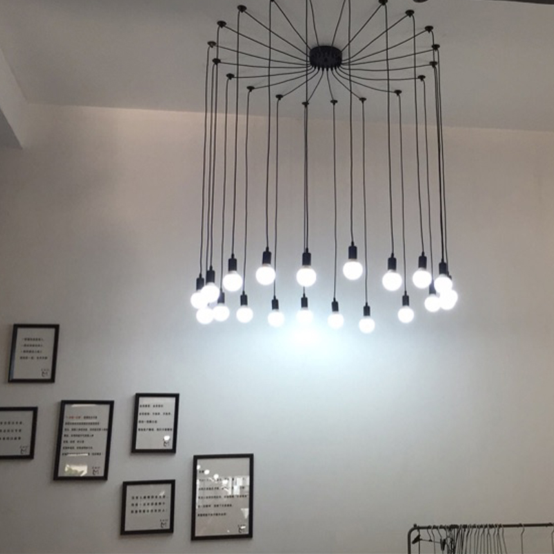 Retro industry clothing store dining room bedroom spider heavenly maids scatter blossoms creative person Pendant Lights ZA GY82 retro cafe bar long spider lamp loft light industrial creative office the heavenly maids scatter blossoms chandelier