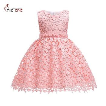 bad58c56e MUABABY 6-24 M 3-10 T verano bebé niñas ceremonia vestido rosa blanco niños  boda noche fiesta túnica de princesa de cumpleaños para niños