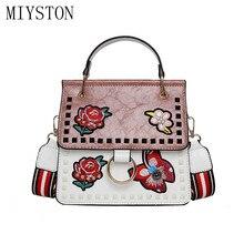 купить Luxury Women Designer Handbags High Quality Embroidery PU Leather Shoulder Bags Ladies Handbags Fashion Brand Totes Women Bags по цене 1312.04 рублей
