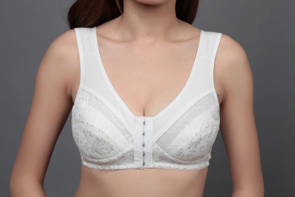 dd3e4dddb98 Plus size bras for women 34 36 38 40 42 44 B C D cup Wireless cotton bra  front button push up lingerie brassiere brand bra A2-in Bras from Underwear  ...