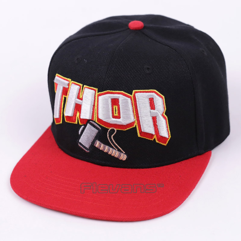 New Arrival Thor Cosplay Cap THOR Hammer Embroidery Style Hat Men/Women Canvas Snapback Caps Baseball Cap