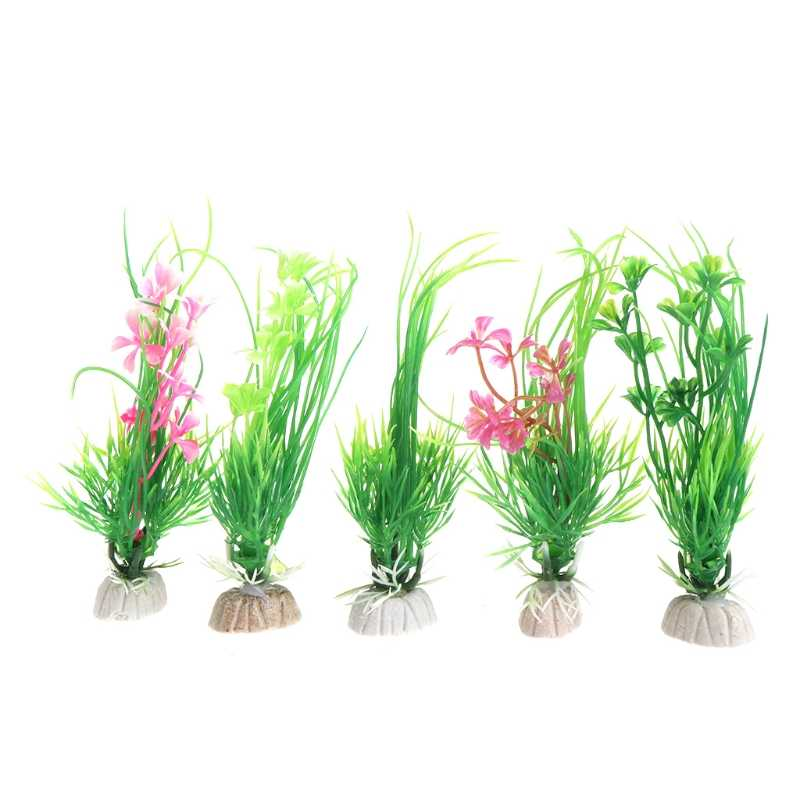Artificiel plastique Aquarium plantes herbe fond Aquarium décoration Aquarium ornement