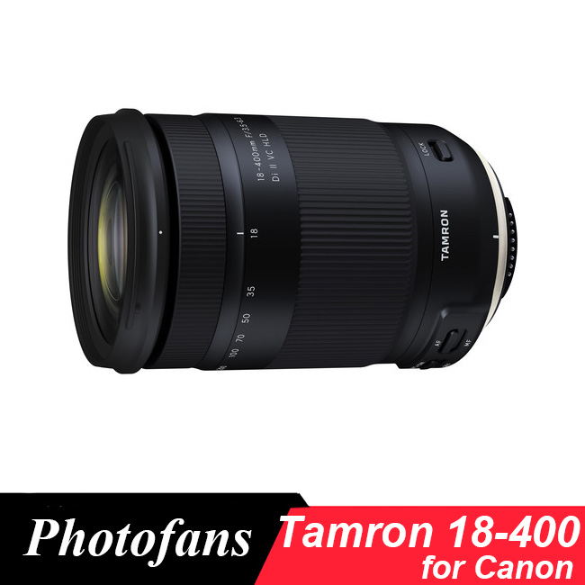 Objectif Tamron 18-400mm f/3.5-6.3 Di II VC HLD pour Canon 1300D 700D 750D 760D 7D